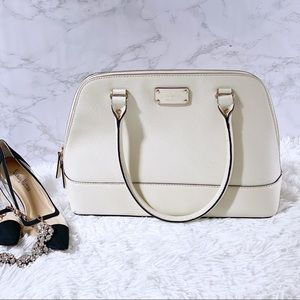 Kate Spade Dome Satchel Ivory Leather NWOT